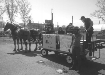 Prospect Park Horses Deliver Supplies During Coronavirus